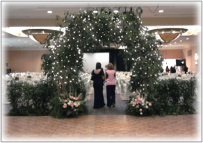 Wedding Arch Ficus Lights Image